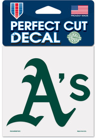 Oakland Athletics 4x4 inch Auto Decal - Green