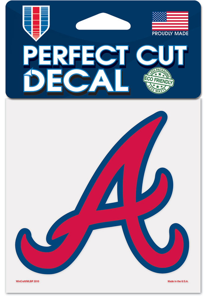 Atlanta Braves 4x4 inch Auto Decal - Red