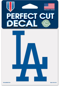 Los Angeles Dodgers 4x4 inch Auto Decal - Blue