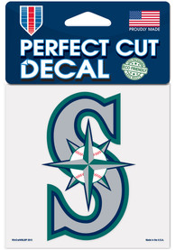 Seattle Mariners 4x4 inch Auto Decal - Blue