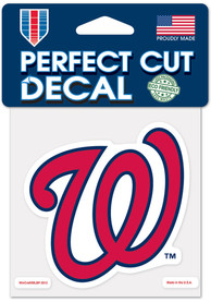 Washington Nationals 4x4 inch Auto Decal - Red