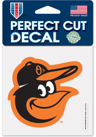 Baltimore Orioles 4x4 inch Auto Decal - Black