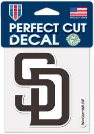 San Diego Padres 4x4 inch Auto Decal - Blue