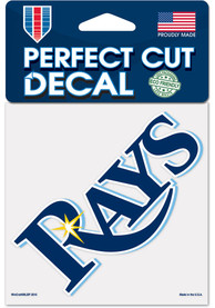 Tampa Bay Rays 4x4 inch Auto Decal - Blue