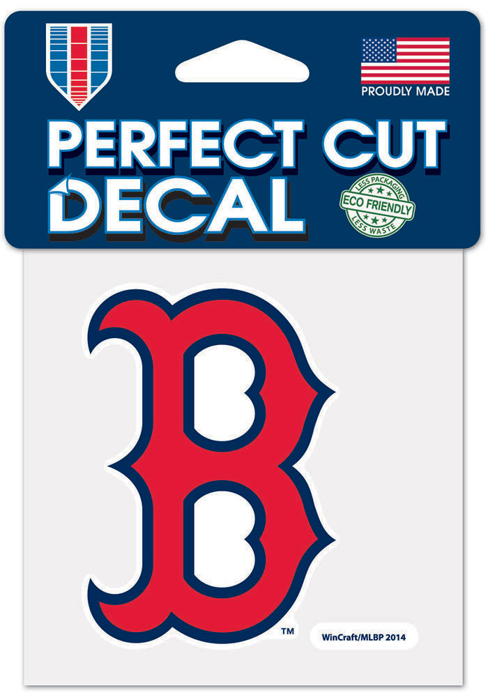 Boston Red Sox 4x4 inch Auto Decal - Red - Image 1