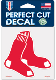 Boston Red Sox 4x4 inch Auto Decal - Red