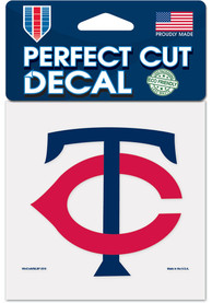 Minnesota Twins 4x4 inch Auto Decal - Red