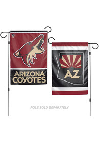 Arizona Coyotes 2 Sided Team Logo Garden Flag