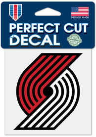 Portland Trail Blazers 4x4 inch Auto Decal - Red