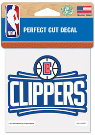 Los Angeles Clippers 4x4 inch Auto Decal - Red