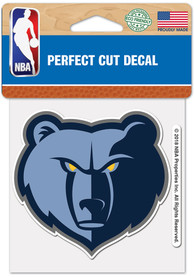Memphis Grizzlies 4x4 inch Auto Decal - Blue