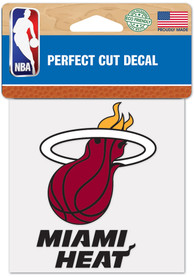 Miami Heat 4x4 inch Auto Decal - Red