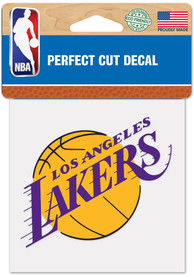 Los Angeles Lakers 4x4 inch Auto Decal - Purple