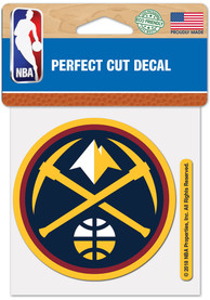 Denver Nuggets 4x4 inch Auto Decal - Blue