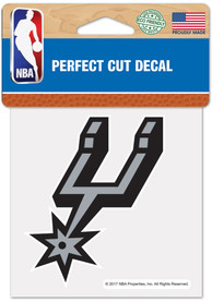 San Antonio Spurs 4x4 inch Auto Decal - Black