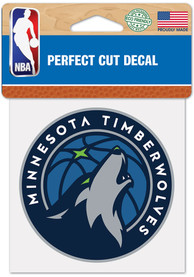 Minnesota Timberwolves 4x4 inch Auto Decal - Blue