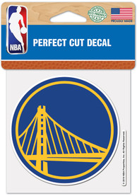 Golden State Warriors 4x4 inch Auto Decal - Blue