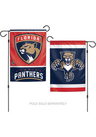 Florida Panthers 2 Sided Team Logo Garden Flag