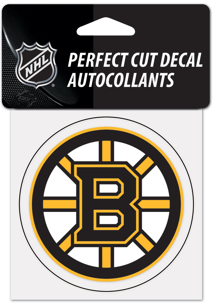 Boston Bruins 4x4 inch Auto Decal - Black