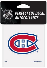 Montreal Canadiens 4x4 inch Auto Decal - Red