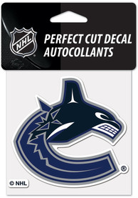 Vancouver Canucks 4x4 inch Auto Decal - Green
