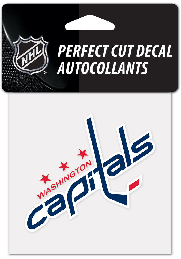 Washington Capitals 4x4 inch Auto Decal - Red - Image 1