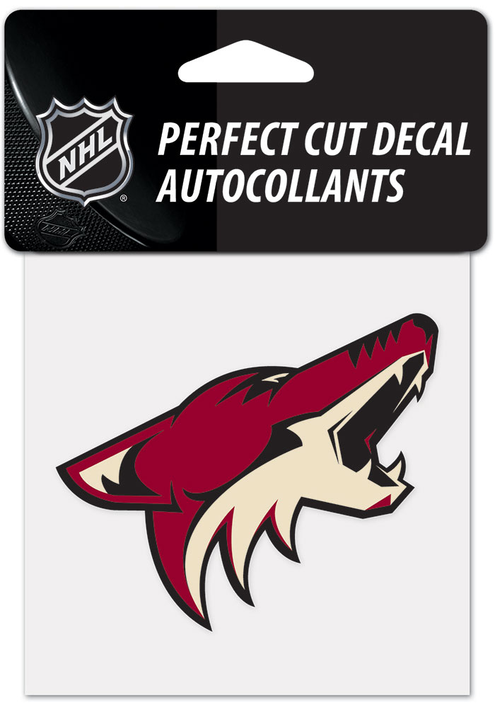 Arizona Coyotes 4x4 inch Auto Decal - Red - Image 1