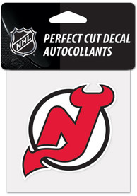 New Jersey Devils 4x4 inch Auto Decal - Red