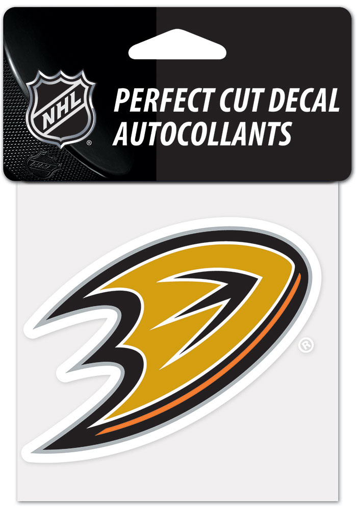 Anaheim Ducks 4x4 inch Auto Decal - Black