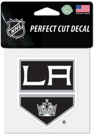 Los Angeles Kings 4x4 inch Auto Decal - Silver