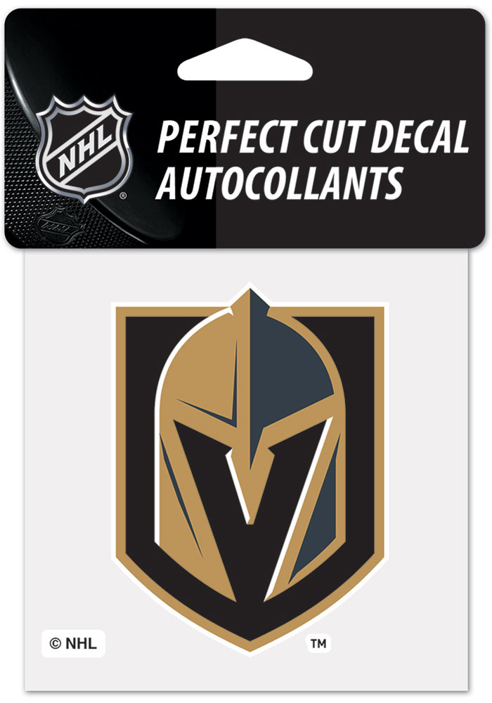 Vegas Golden Knights 4x4 inch Auto Decal - Grey - Image 1