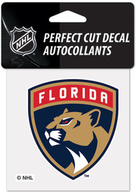 Florida Panthers 4x4 inch Auto Decal - Red