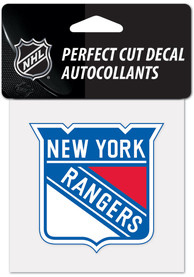 New York Rangers 4x4 inch Auto Decal - Blue
