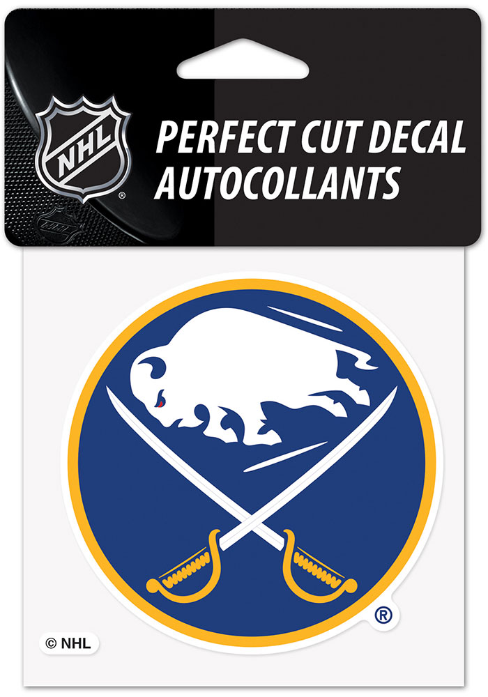 Buffalo Sabres 4x4 inch Auto Decal - Blue