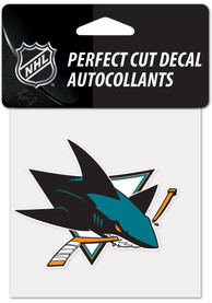 San Jose Sharks 4x4 inch Auto Decal - Blue