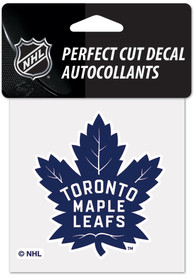 Toronto Maple Leafs 4x4 inch Auto Decal - Blue
