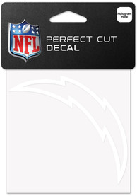 Los Angeles Chargers White 4x4 Inch Auto Decal - White