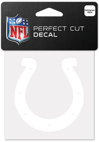 Indianapolis Colts White 4x4 Inch Auto Decal - White