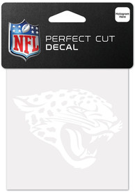 Jacksonville Jaguars White 4x4 Inch Auto Decal - White