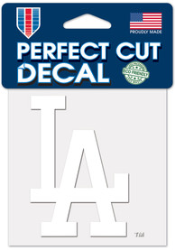 Los Angeles Dodgers White 4x4 Inch Auto Decal - White