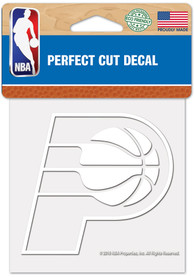 Indiana Pacers White 4x4 Inch Auto Decal - White