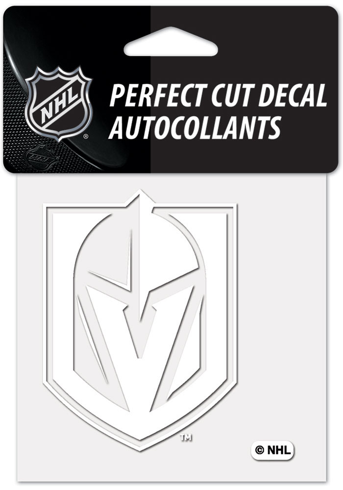 Vegas Golden Knights White 4x4 Inch Auto Decal - White