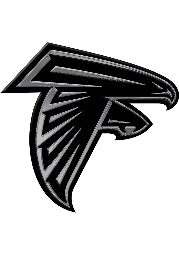 Atlanta Falcons Chrome Car Emblem - Silver