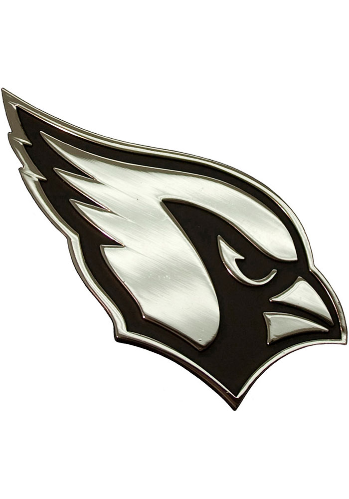 Arizona Cardinals Chrome Car Emblem - Silver