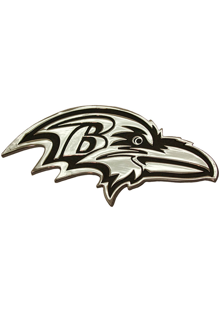 Baltimore Ravens Chrome Car Emblem - Silver