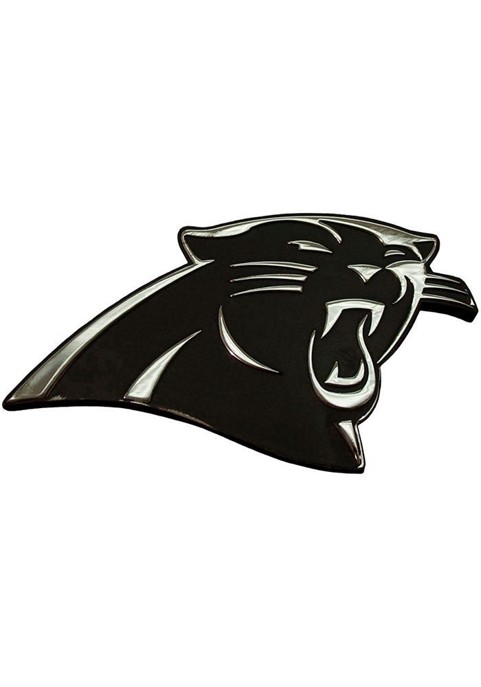 Carolina Panthers Chrome Car Emblem - Silver