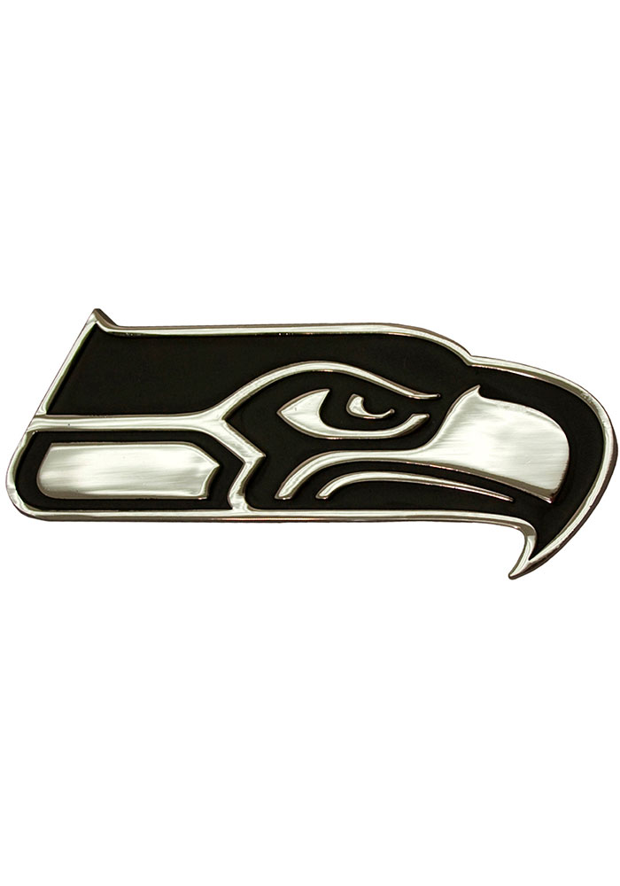 Seattle Seahawks Chrome Car Emblem - Silver
