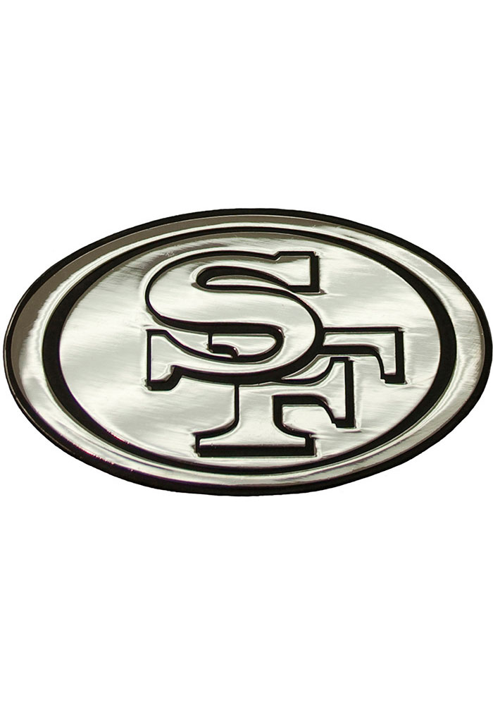 San Francisco 49ers Chrome Car Emblem - Silver