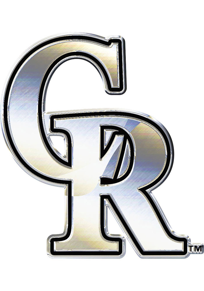 Colorado Rockies Chrome Car Emblem - Silver