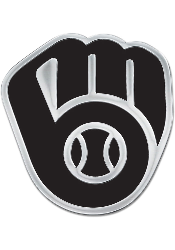 Milwaukee Brewers Chrome Car Emblem - Silver - Image 1